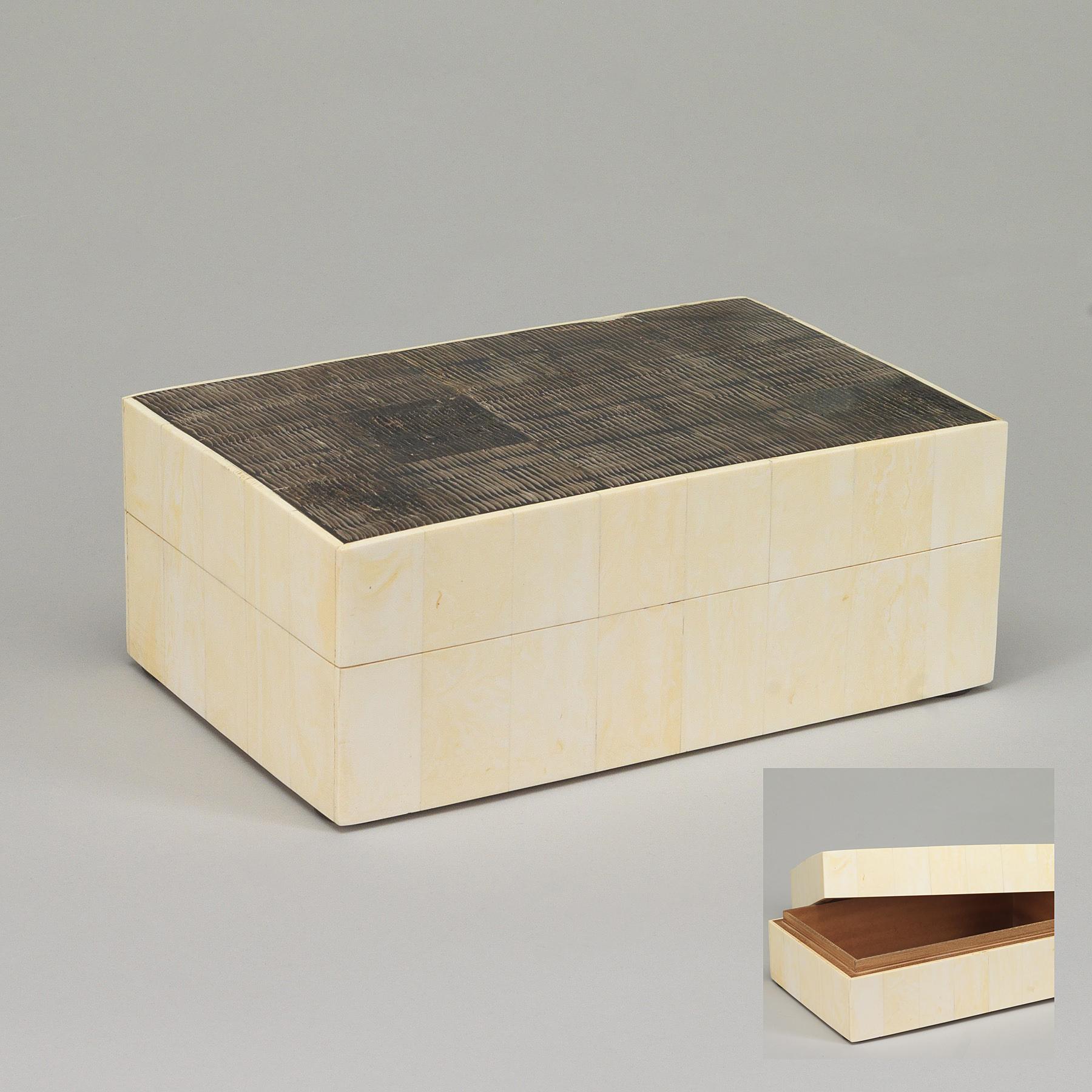 boite bijoux bois ivoire brun