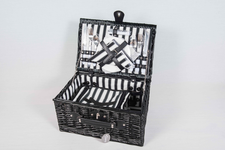 panier pique nique en osier noir r duit 40x28. Black Bedroom Furniture Sets. Home Design Ideas