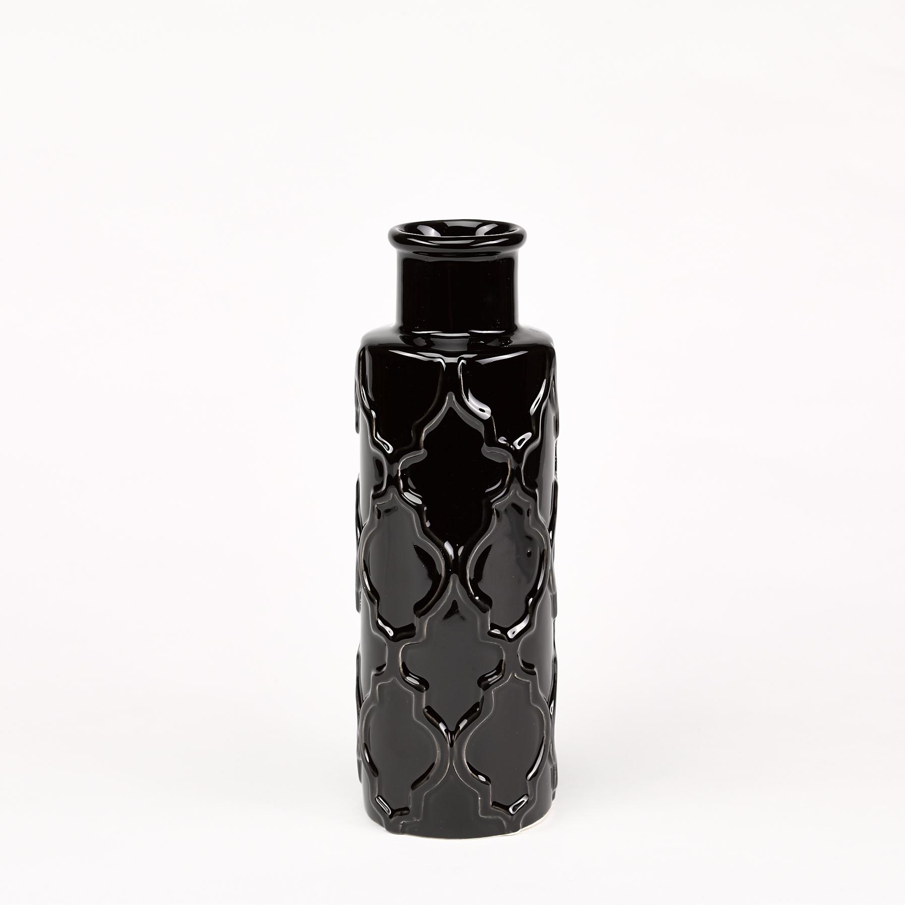 vase noir céramique