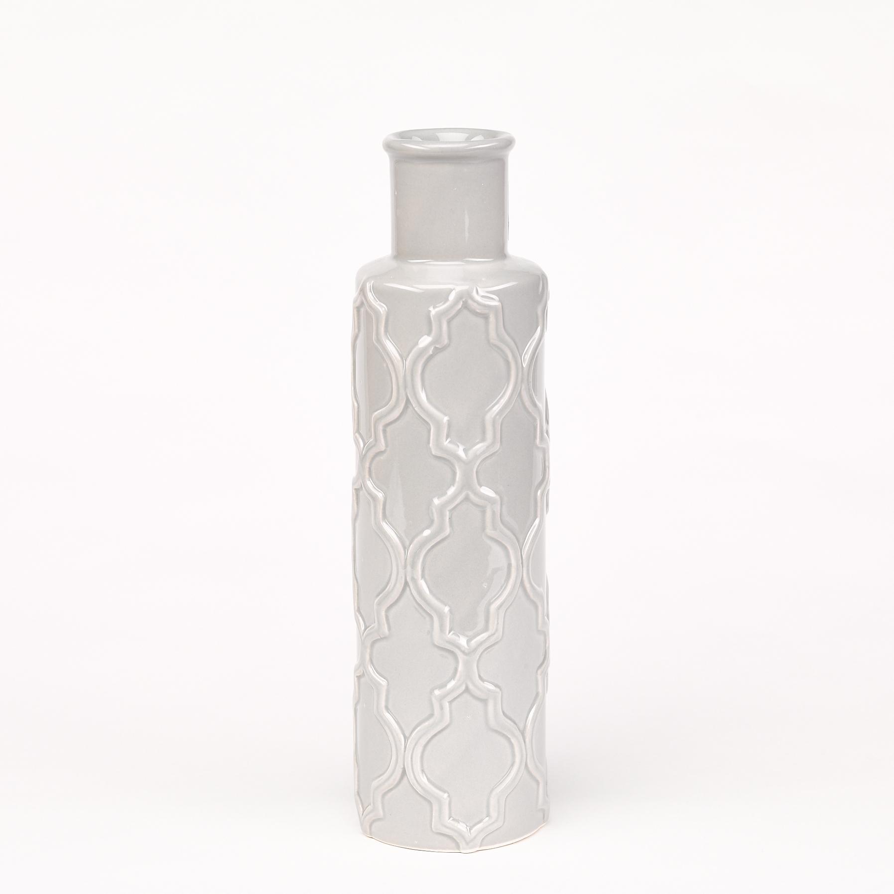 vase gris céramique